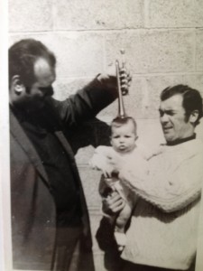 1971: A first trumpet lesson for Gareth Small with his dad Tony